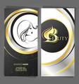 business card hair stylist hair and body care vector image vector image