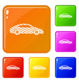 car icons set color vector image vector image