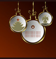 christmas design of abstract balls with vector image