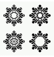 Christmas snowflake icon set Ornamental view snow vector image vector image