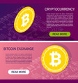 cryptocurrency concept banners vector image