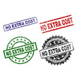 damaged textured no extra cost stamp seals vector image