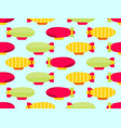 Dirigible seamless pattern colorful airships