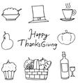 Doodle of fruit element Thanksgiving vector image vector image