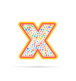 dots and letter x logo with circles and dots vector image vector image