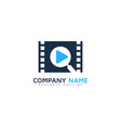 find video logo icon design vector image