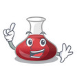 finger red wine decanter isolated on mascot vector image