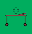 flat icon design collection medical stretcher vector image vector image