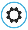 Gear Flat Rounded Icon vector image vector image