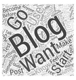 Getting Started With Blog Marketing Word Cloud vector image vector image