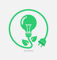 green eco power lightbulb vector image vector image