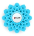 Greeting card or background with light blue flower vector image