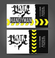 handyman business card hand with tool vector image vector image