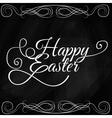 Happy Easter Typographical Background On vector image