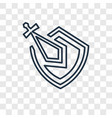 knight concept linear icon isolated on vector image