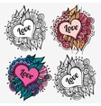 Love special nature labels vector image