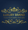 luxury brand vintage gold logo template design vec vector image