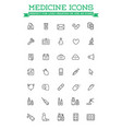 medicine and drugs related icons thin set of vector image