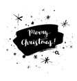 merry christmas calligraphy card vector image