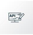 modeling api icon line symbol premium quality vector image