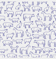 popular farm animals seamless pattern vector image