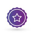 purple gradient smooth edged burst badge seal vector image vector image