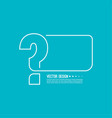 question mark icon vector image