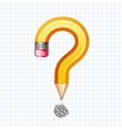 Question symbol pencil vector image vector image