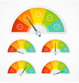 realistic detailed 3d rating feedback meter set vector image vector image
