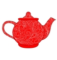 red teapot vector image