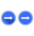 right arrow flat icon vector image vector image