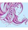 romantic girl with beautiful decorative hairstyle vector image vector image