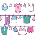 seamless pattern with baby clothes vector image vector image