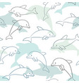 seamless pattern with dolphin on white design vector image vector image