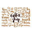 set coffee labels vector image vector image