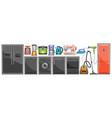 set home appliances vector image vector image