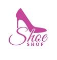 Shoe Shop Pink Logo Concept vector image vector image
