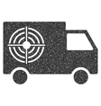 Shooting Gallery Truck Icon Rubber Stamp vector image vector image