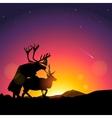silhouette deers copulate vector image vector image