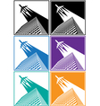 skyscrapers airline vector image vector image