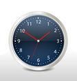steel modern clock vector image