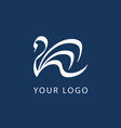 swan logo sign emblem-23 vector image vector image