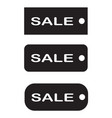 tags sale on white background black tag sale vector image vector image