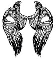 tattoo wings vector image vector image