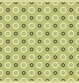 tile pattern with black on white dots on green vector image vector image