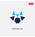 two color polygonal cat icon from geometry vector image vector image