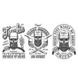 vintage monochrome trucker emblems collection vector image vector image