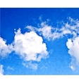 white clouds in blue sky vector image