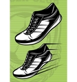with a set running shoes on vector image