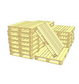 wooden pallets isolated on white vector image vector image